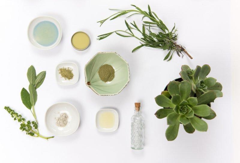matérias-primas para cosméticos naturais
